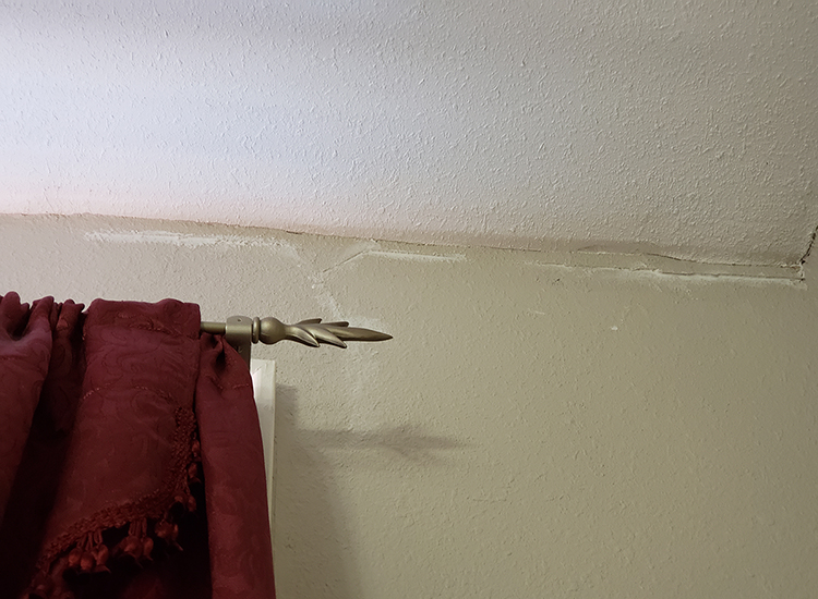 Water damage in hotel